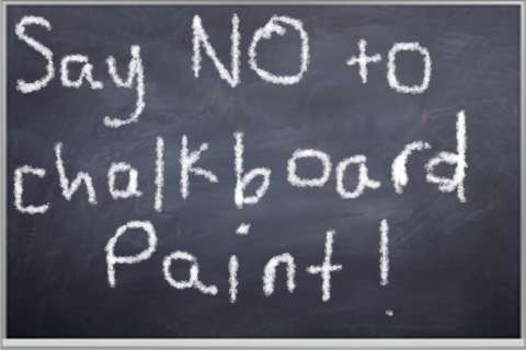 Post image for Writer's Workshop: Say No To Chalkboard Paint