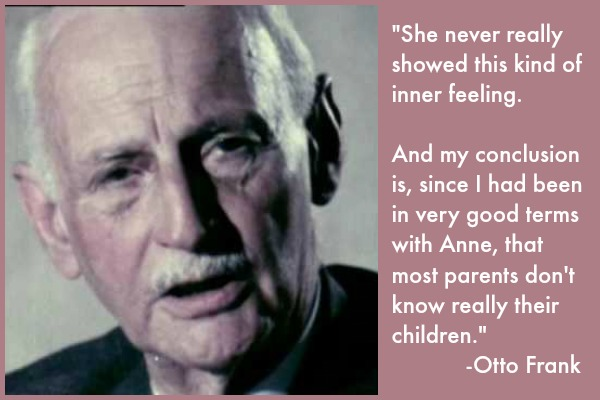 Post image for Writer's Workshop: Words From Otto Frank