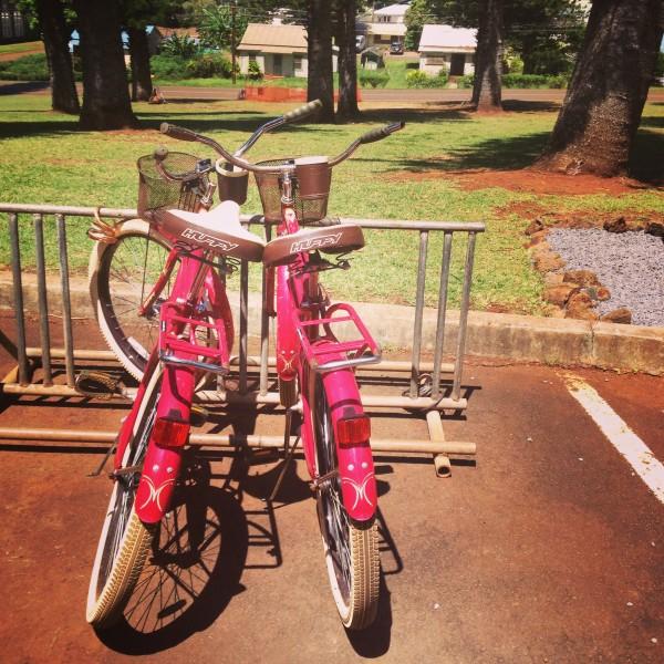 bikes on lanai