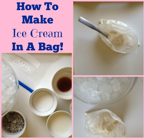 ice crean in a bag