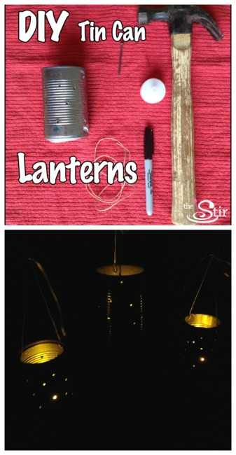 tin can lanterns diy