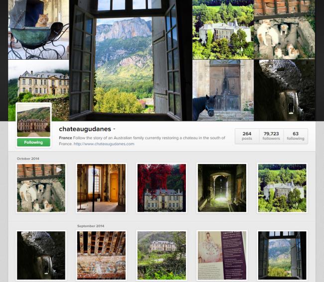Instagram ChateauGudanes
