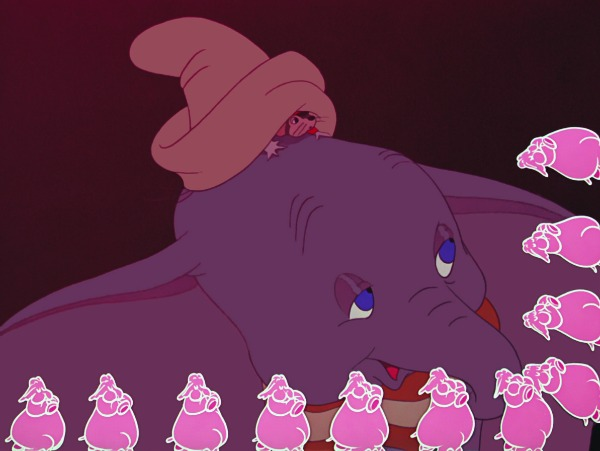 dumbo pink elephants