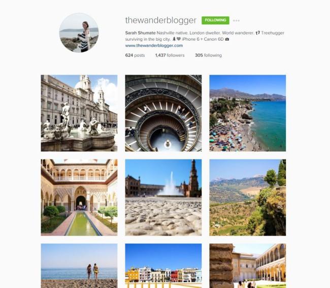 instagram thewanderblogger