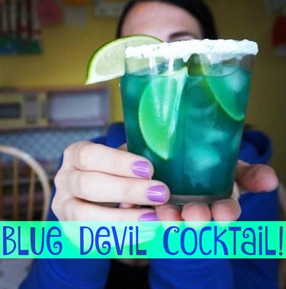 The Blue Devil Cocktail