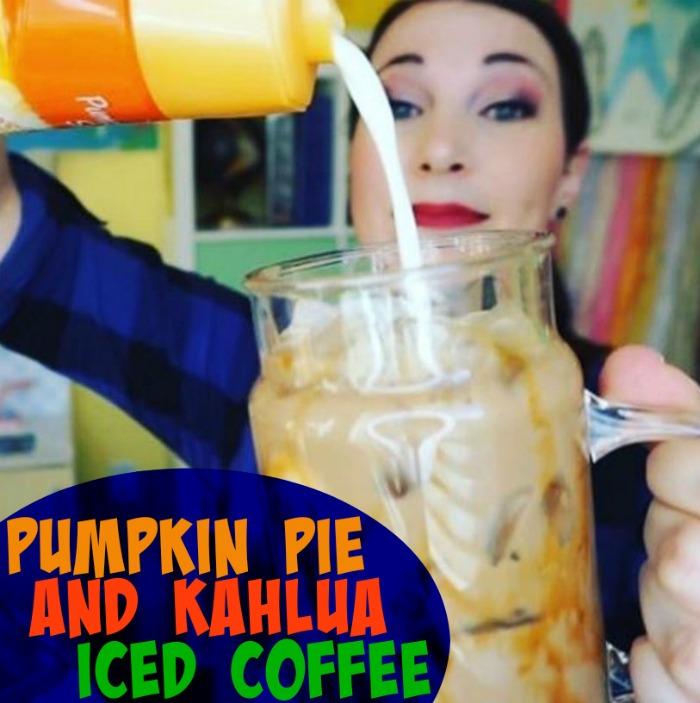 Pumpkin Pie and Kahlua Iced Coffee